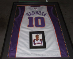 Barbosa Phoenix Suns Autographed Basketball Jersey and Photo